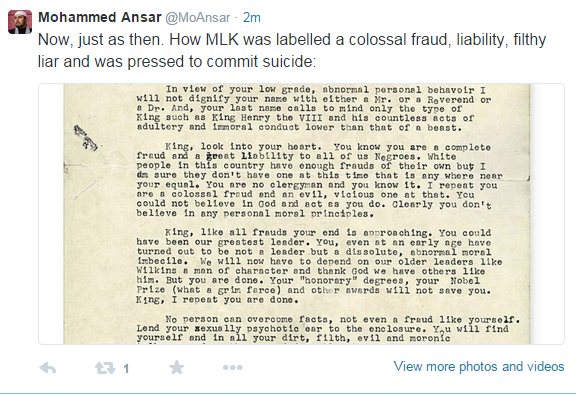 mlk plagiarized thesis